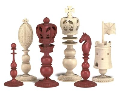 A CHINESE-EXPORT IVORY 'BURMES