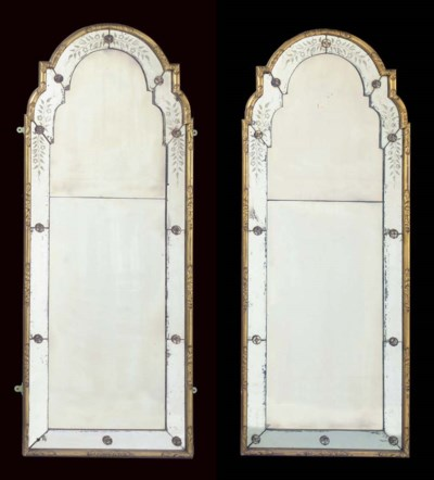 A PAIR OF GILT FRAMED ETCHED G