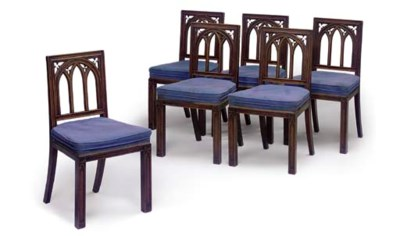 A SET OF SIX REGENCY GOTHIC WA