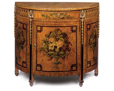 A SATINWOOD, STAINED SYCAMORE,
