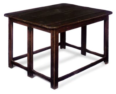 A MAHOGANY FOLDING TABLE