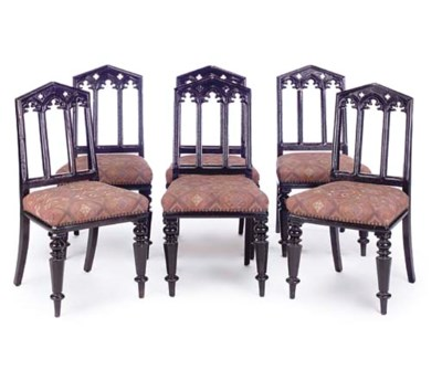 A SET OF SIX LATE VICTORIAN EB