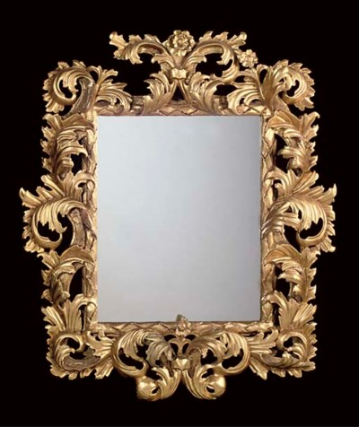 A FLORENTINE GILTWOOD AND GESS