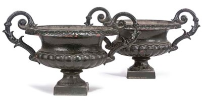 A PAIR OF VICTORIAN CAST-IRON