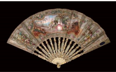 A FAN, THE LEAF PAINTED