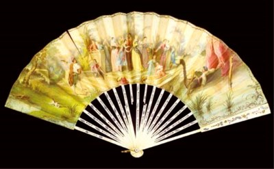 EXPOSITION 1855, A FAN SIGNED