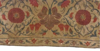 A CHINTZ BORDER, INDIAN 1740S