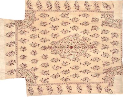 MUGHAL QUILTED COVERLET, 18TH
