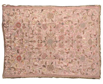 AN OTTOMAN EMBROIDERED HANGING