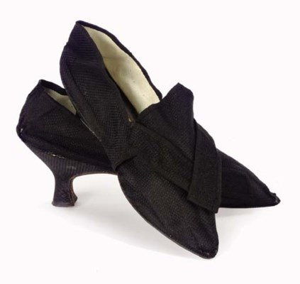 TWO PAIRS OF 18TH CENTURY SHOE
