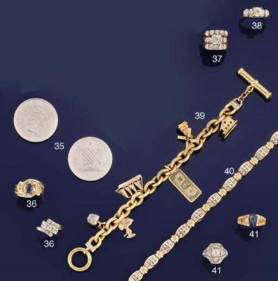 Three diamond-set bracelets