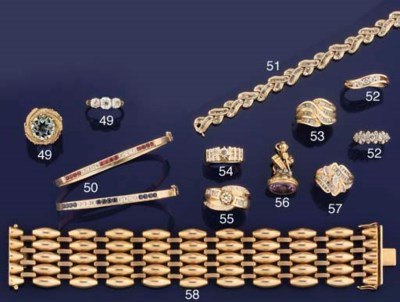 Ten gem-set rings