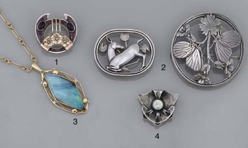 Two silver brooches, by Georg