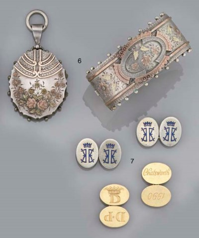 A suite of Victorian silver je