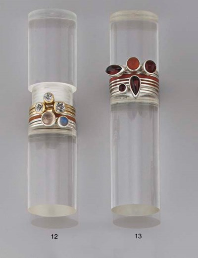 A ring set, by Wendy Ramshaw