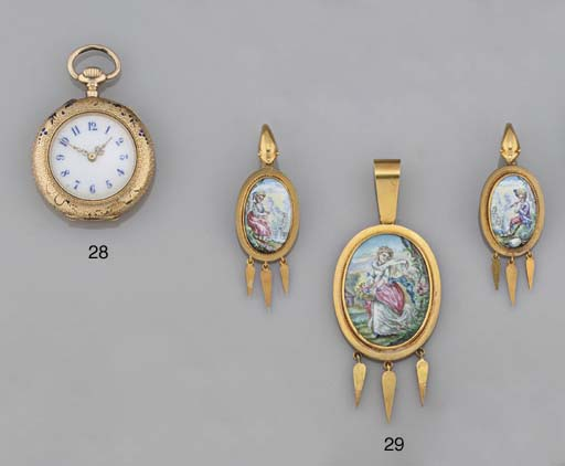 A 19th century gold and swiss