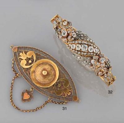 A diamond and rose-cut diamond