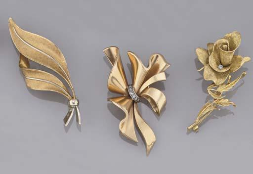 Three brooches
