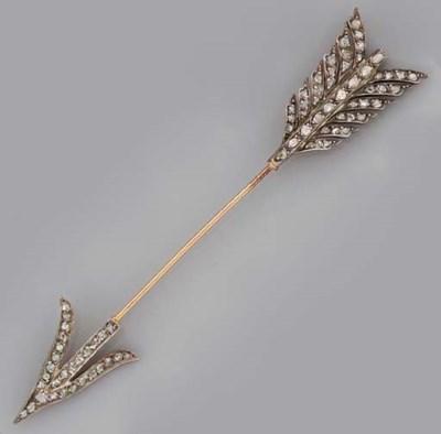 A diamond jabbot pin