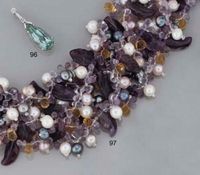 An amethyst, cultured pearl an