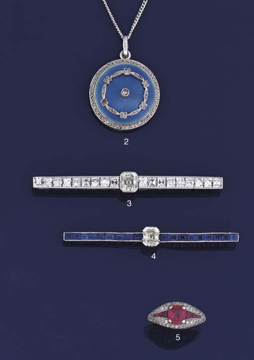 A diamond and sapphire bar bro