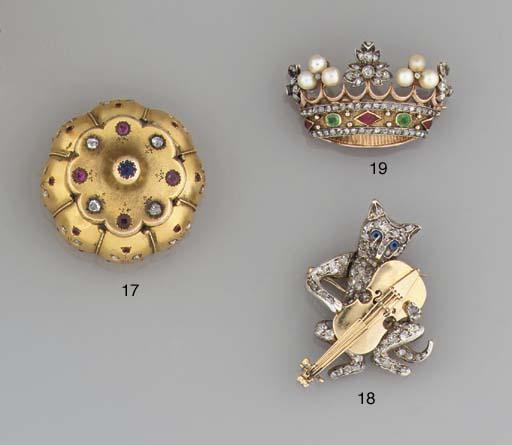 A Victorian diamond novelty ca