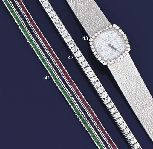 Three gem line bracelets