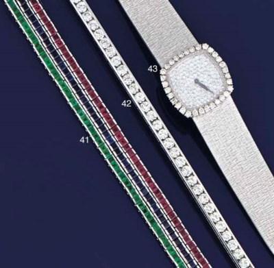 A diamond bracelet, by Gubelin