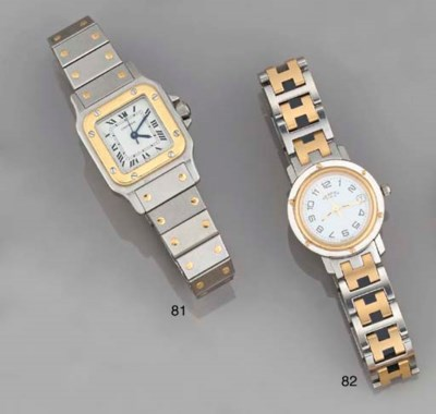 A lady's stainless steel wrist