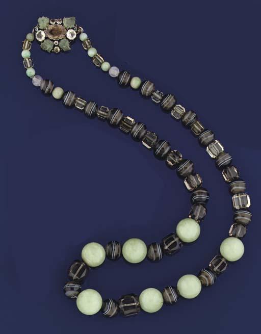 A multi-gem necklace, by Dorri