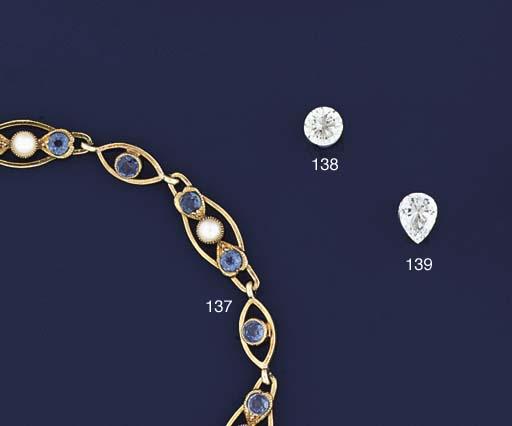 An Edwardian gold, sapphire an
