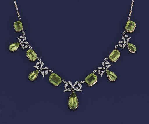 An Edwardian diamond and perid