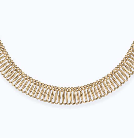 An 18ct. gold flexible necklac