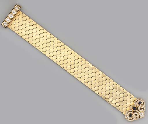 A diamond and sapphire 'Ludo H