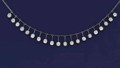 A diamond festoon necklace