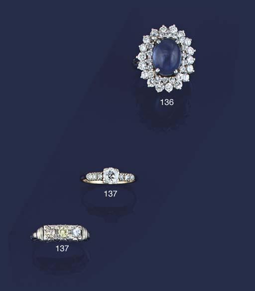 Two diamond rings