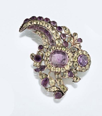 An 18th century amethyst and c