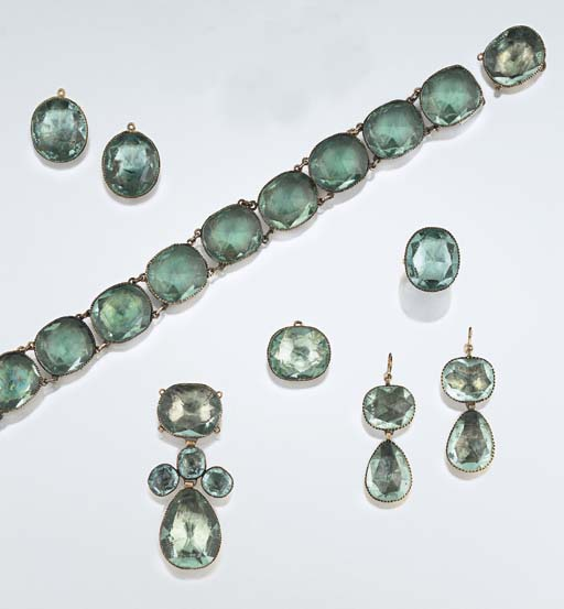 A group of 18th century paste jewellery