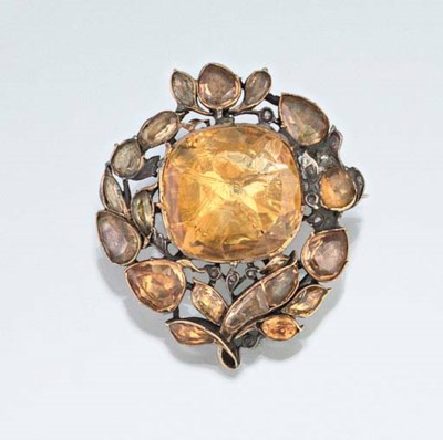 An early 18th century citrine,