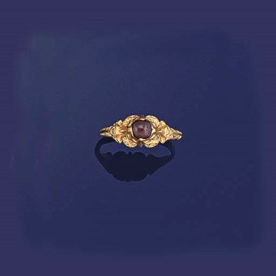 A 16th century gold and garnet