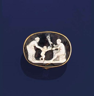 A 17th century agate cameo rin