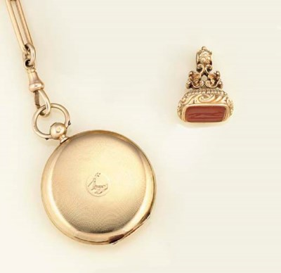 A 19th century 18ct. gold pock