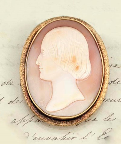 A 19th century shell cameo bro