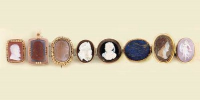 A group of hardstone, resin an