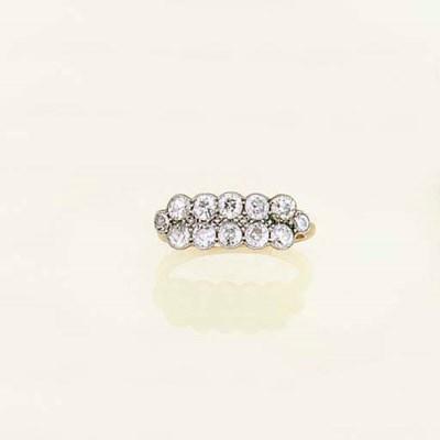 A diamond twelve-stone ring