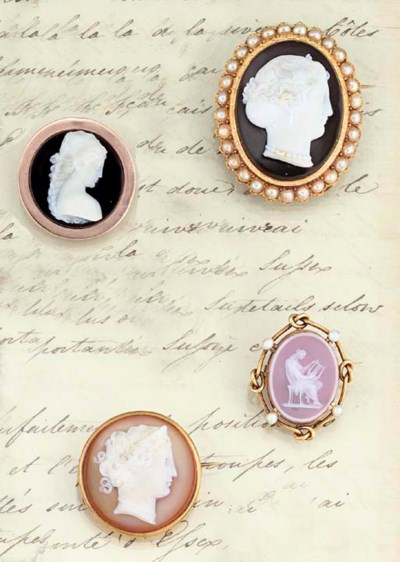 A group of four late 19th cent