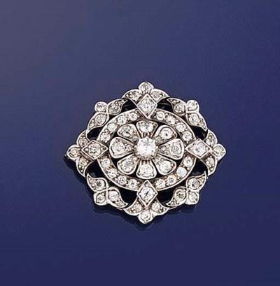 A late Victorian diamond penda