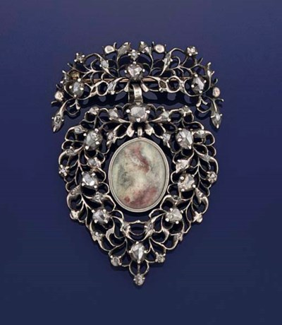 A late 18th century silver and