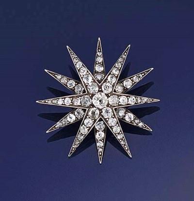 A LATE VICTORIAN DIAMOND STAR