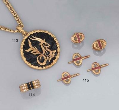 A zodiac pendant, by Chaumet